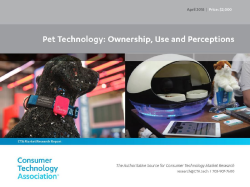 Toys, Smart Feeders and Pet Health Apps are Most Popular Pet Tech